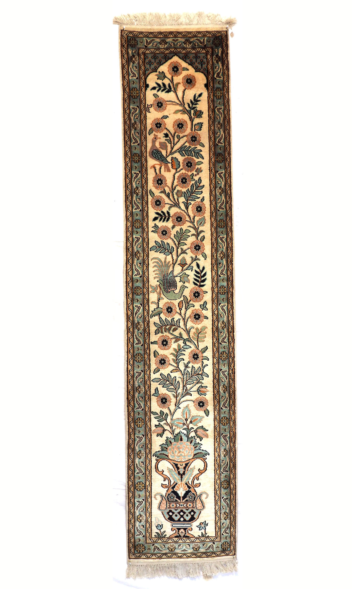 188x40 cm handgeknüpften Kaschmir echt seide Teppich