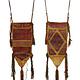 antique huge Tuareg people Leather Bag (M)