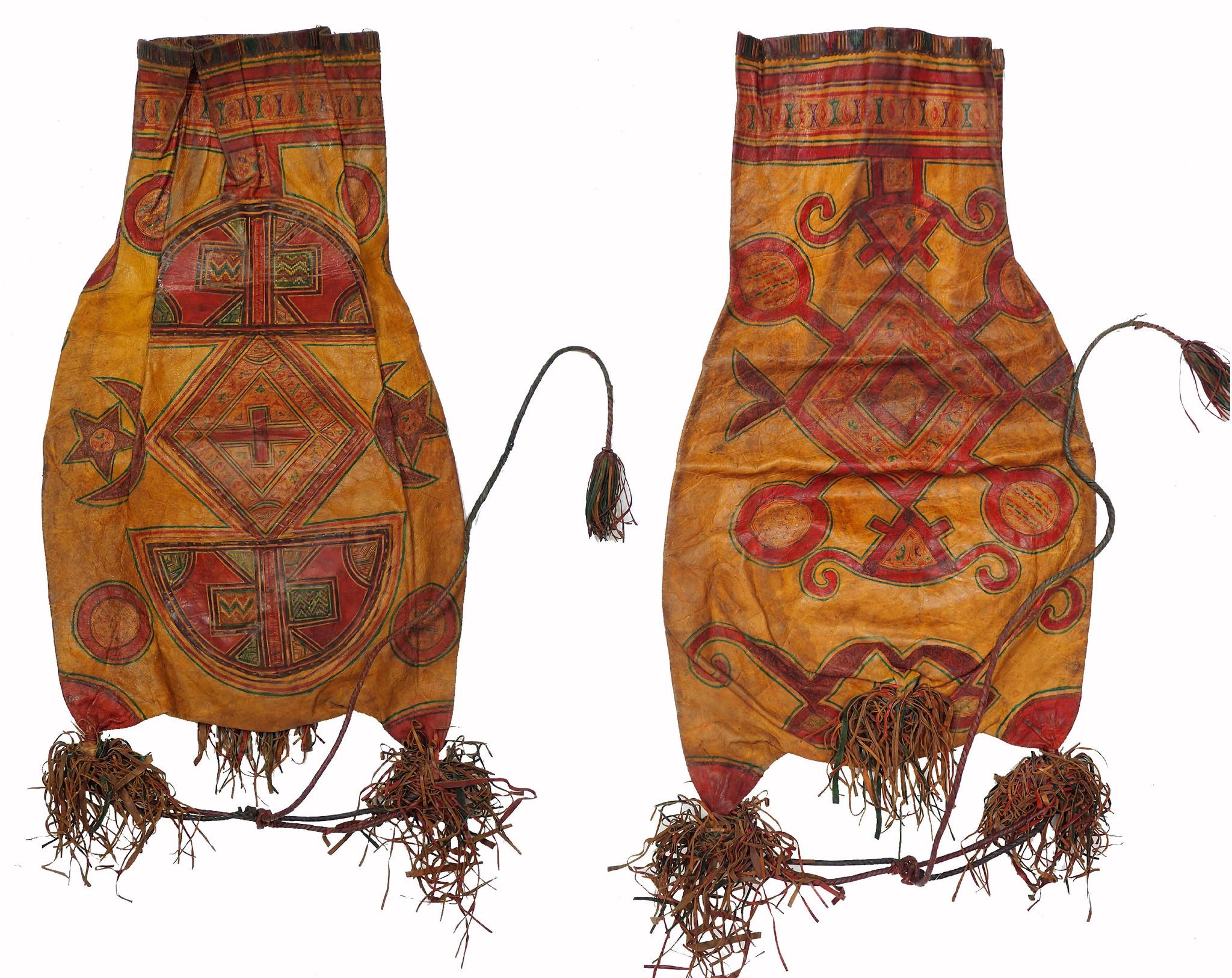 antique  Tuareg people Leather Bag (S)