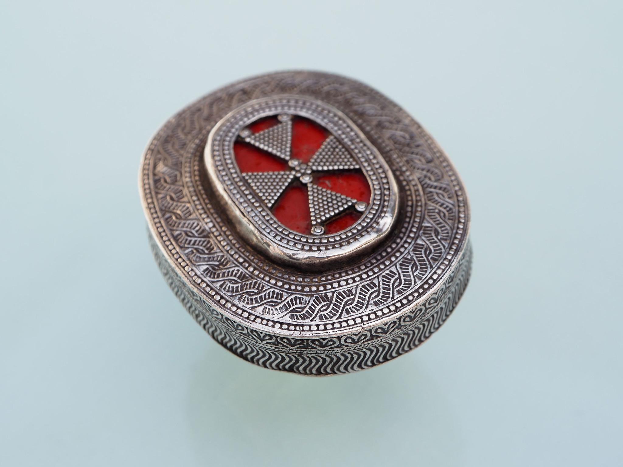 antik Turknemische Silber Ring turkmenistan Afghanistan Nr-510