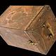 Antik Massiv islamische Kupfer verzinnte Kiste Truhe gefäß büchse Schmuck Dose schatulle aus Afghanistan 19. Jh. Nr:IT