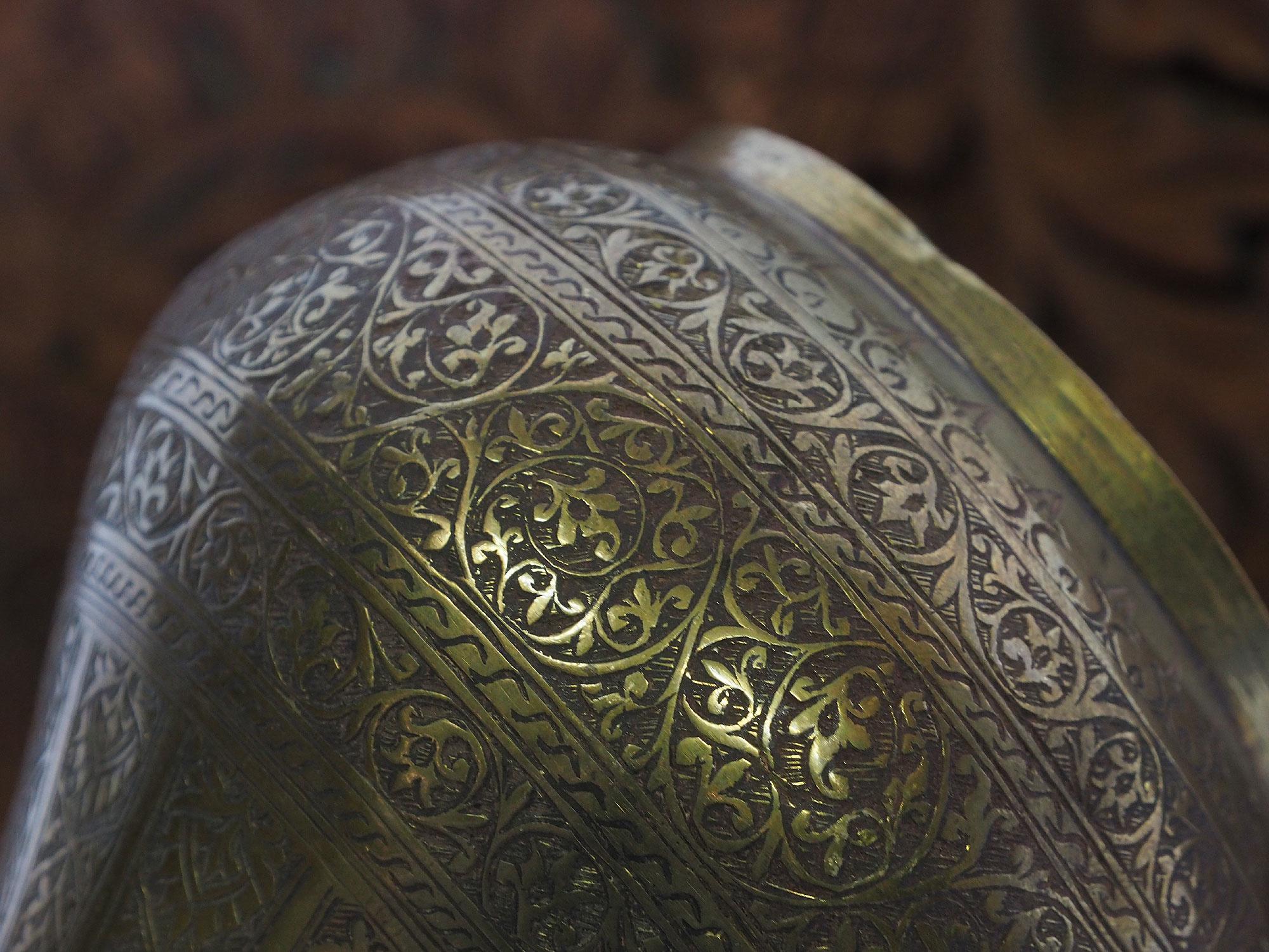 antik Massiv islamische Messing Wasserpfeife shisha Hookahs Schischa nargile Kalian aus Afghanistan Nr:19/13