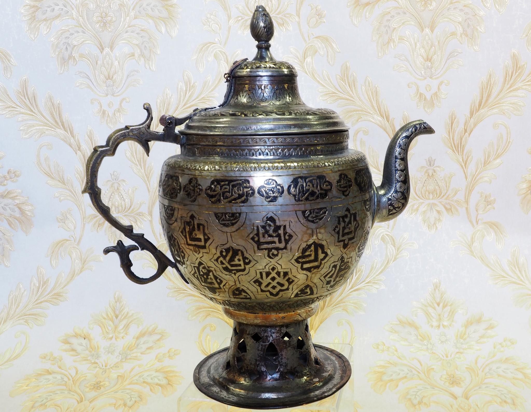 antik Massiv islamische Messing Wasserpfeife shisha Hookahs Schischa nargile Kalian aus Afghanistan Nr:19/2