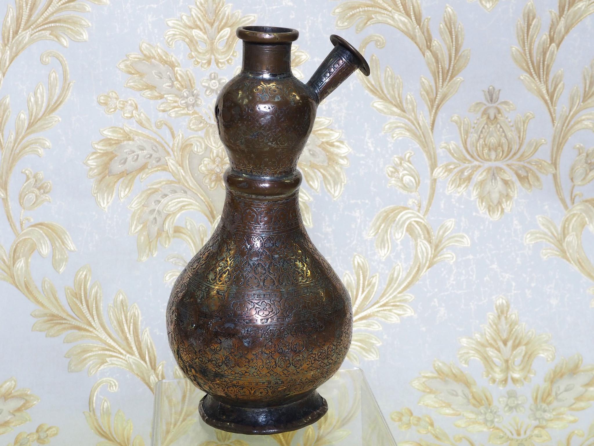 antik Massiv islamische Kupfer mini hand Wasserpfeife shisha Hookahs Schischa nargile Kalian aus Afghanistan Nr:19/6