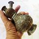 antik Massiv islamische Kupfer mini hand Wasserpfeife shisha Hookahs Schischa nargile Kalian aus Afghanistan Nr:19/4
