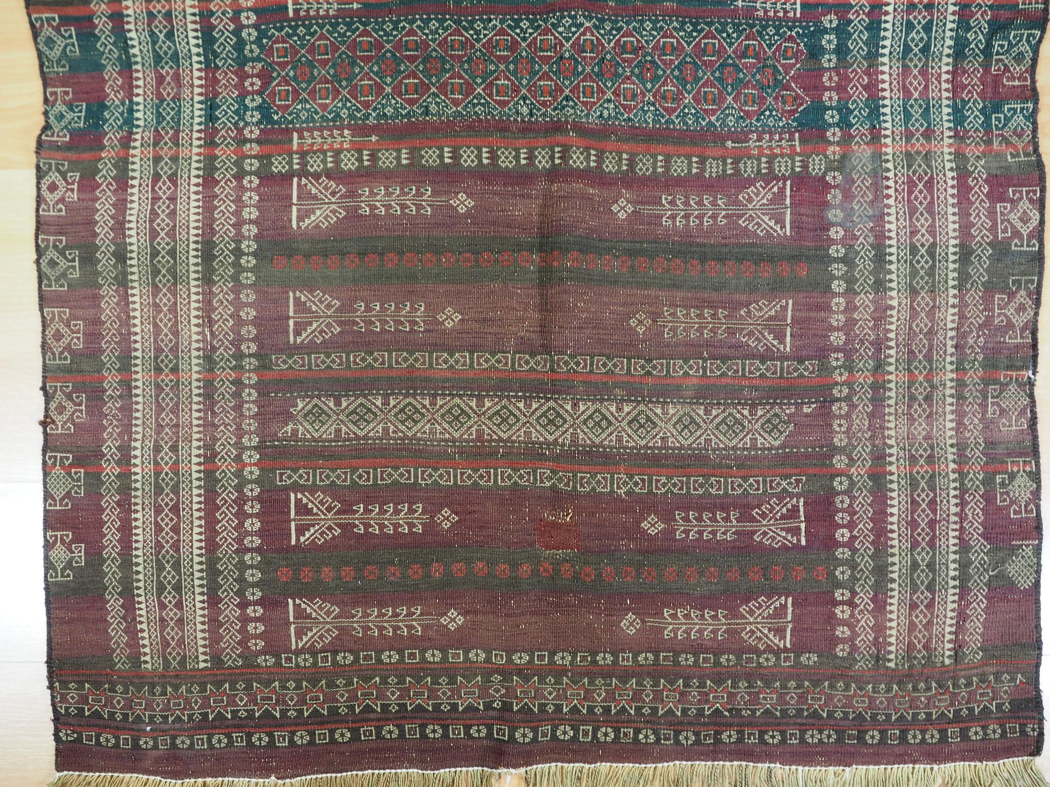 348x112 cm Antik Balouch  kelim afghan Beloch kilim Nr-19/PK-3