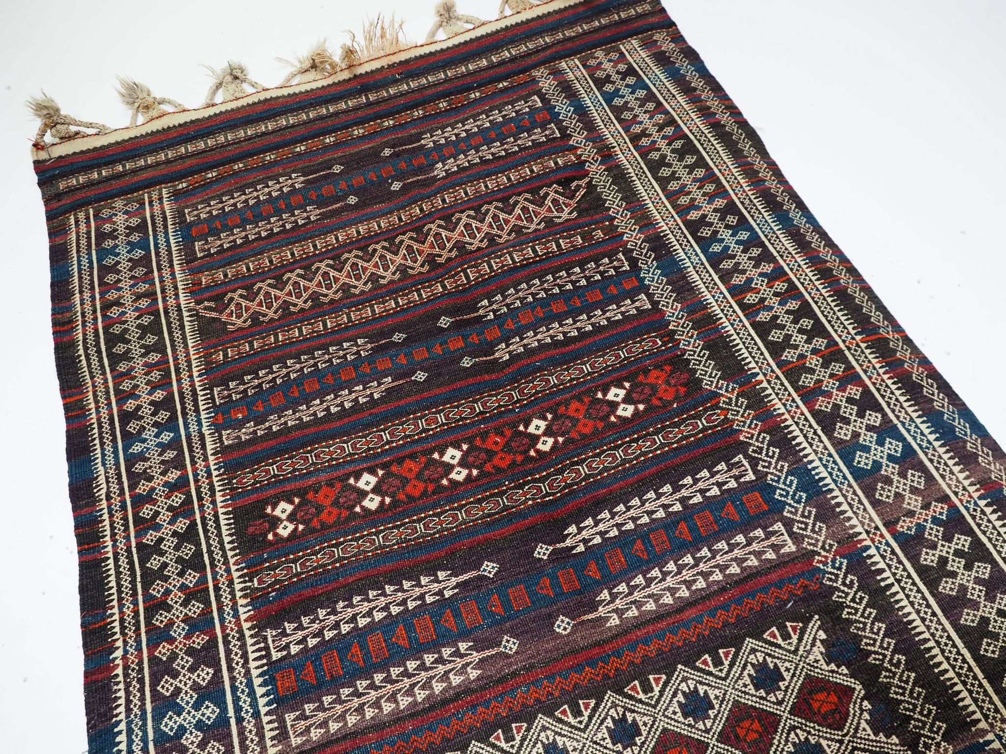 260x115 cm  Antik Balouch  kelim afghan Beloch kilim Nr-19/PK-6