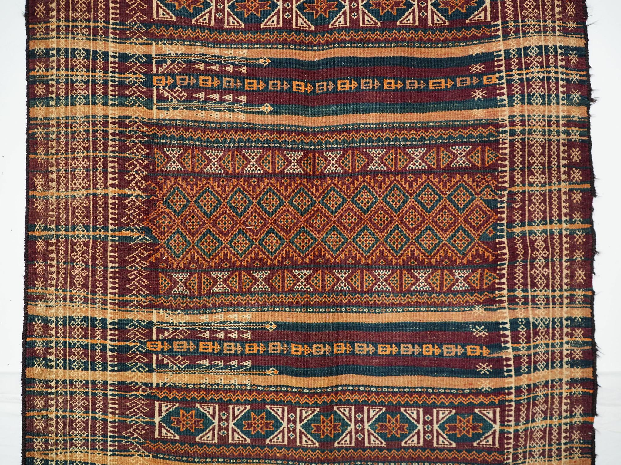 300x116 cm Antik Balouch  kelim afghan Beloch kilim Nr-19/PK-10