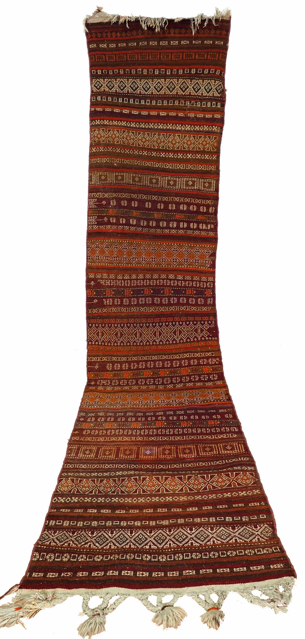 340x77 cm Antik Balouch  kelim afghan Beloch kilim Nr-19/PK-11