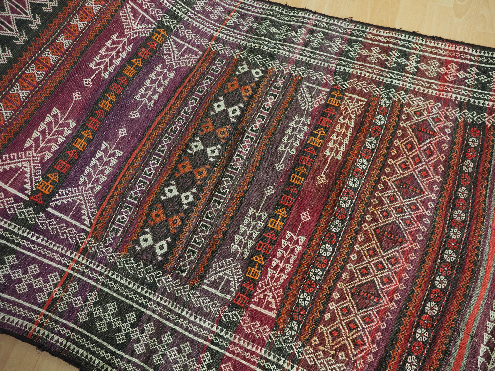 340x100 cm  Antik Balouch  kelim afghan Beloch kilim Nr-19/PK-12