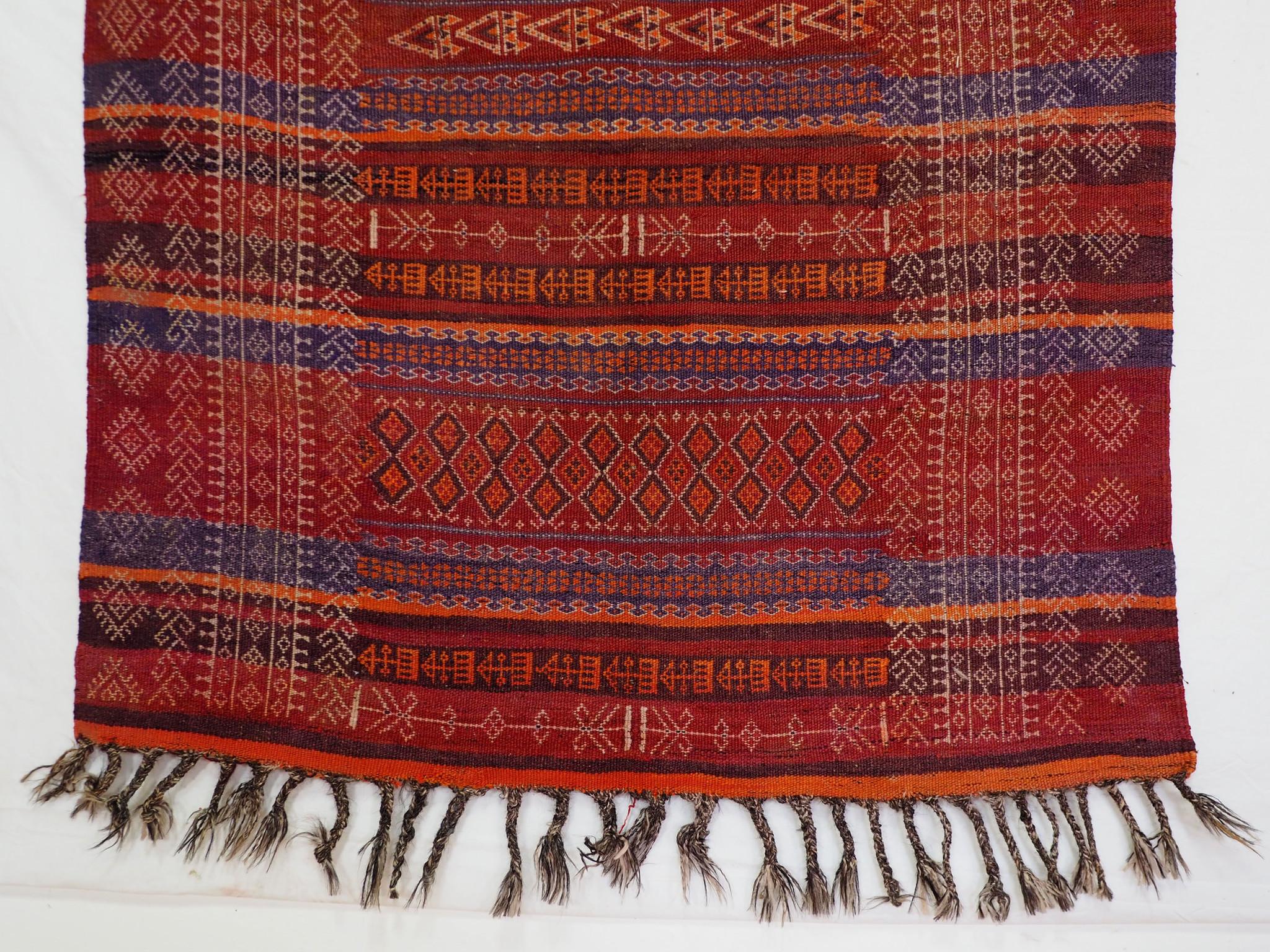 280x125 cm  Antik Balouch  kelim afghan Beloch kilim Nr-19/PK-15