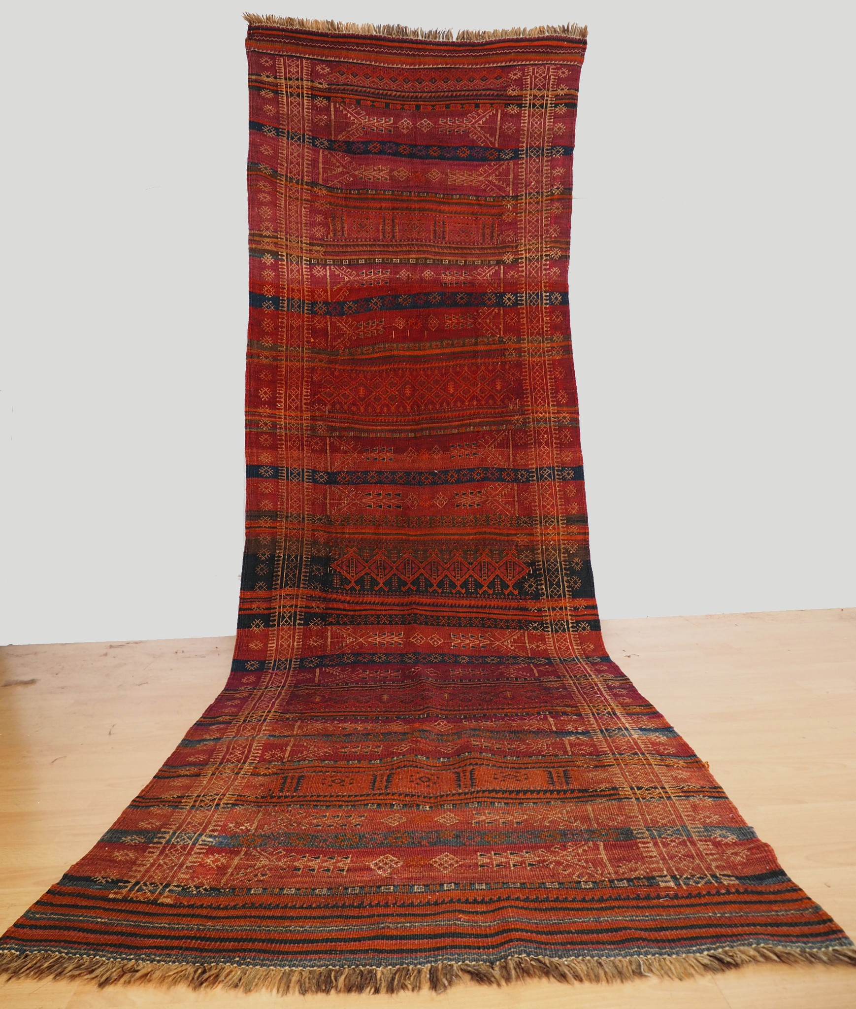 325x102 cm Antik Balouch  kelim afghan Beloch kilim Nr-19/PK-16