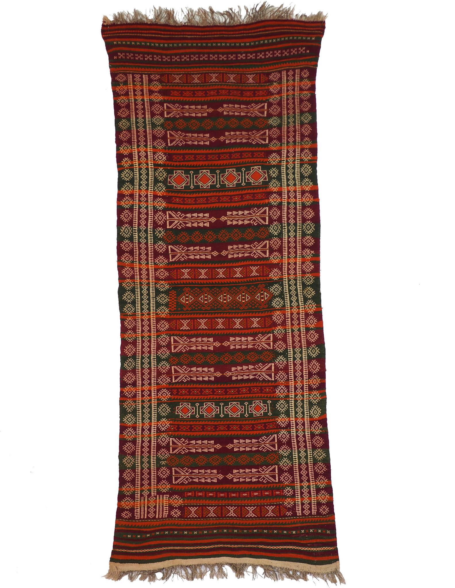 220x93 cm Antik Balouch  kelim afghan Beloch kilim Nr-19/PK-1
