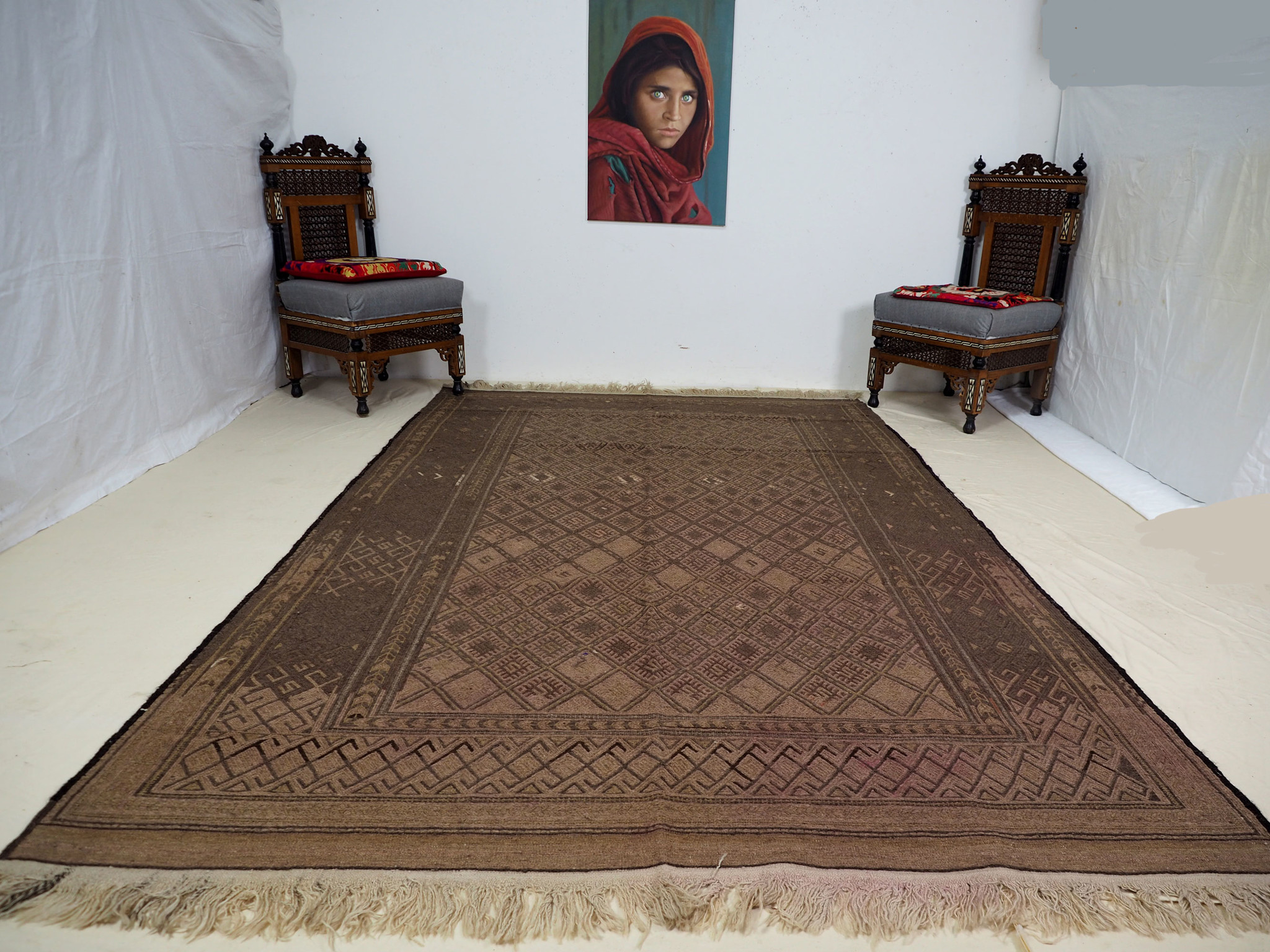 290x183 cm  sumakh kelim Taimani Balouch Süd-Afghanistan Nr-TM-3
