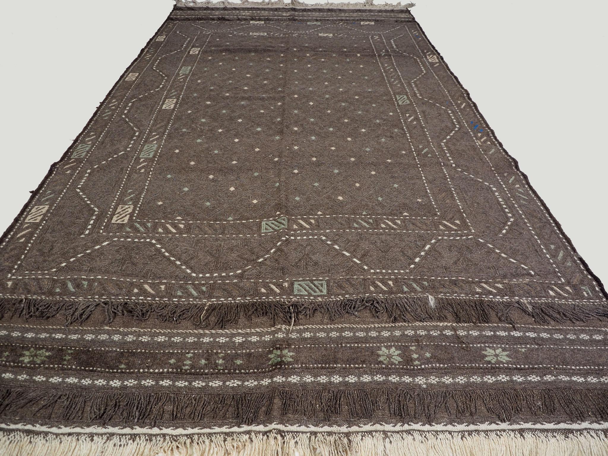 "287x160 cm (112,9"" x 62,9"" inch) sumakh kelim Taimani Balouch Süd-Afghanistan Nr-TM-14"
