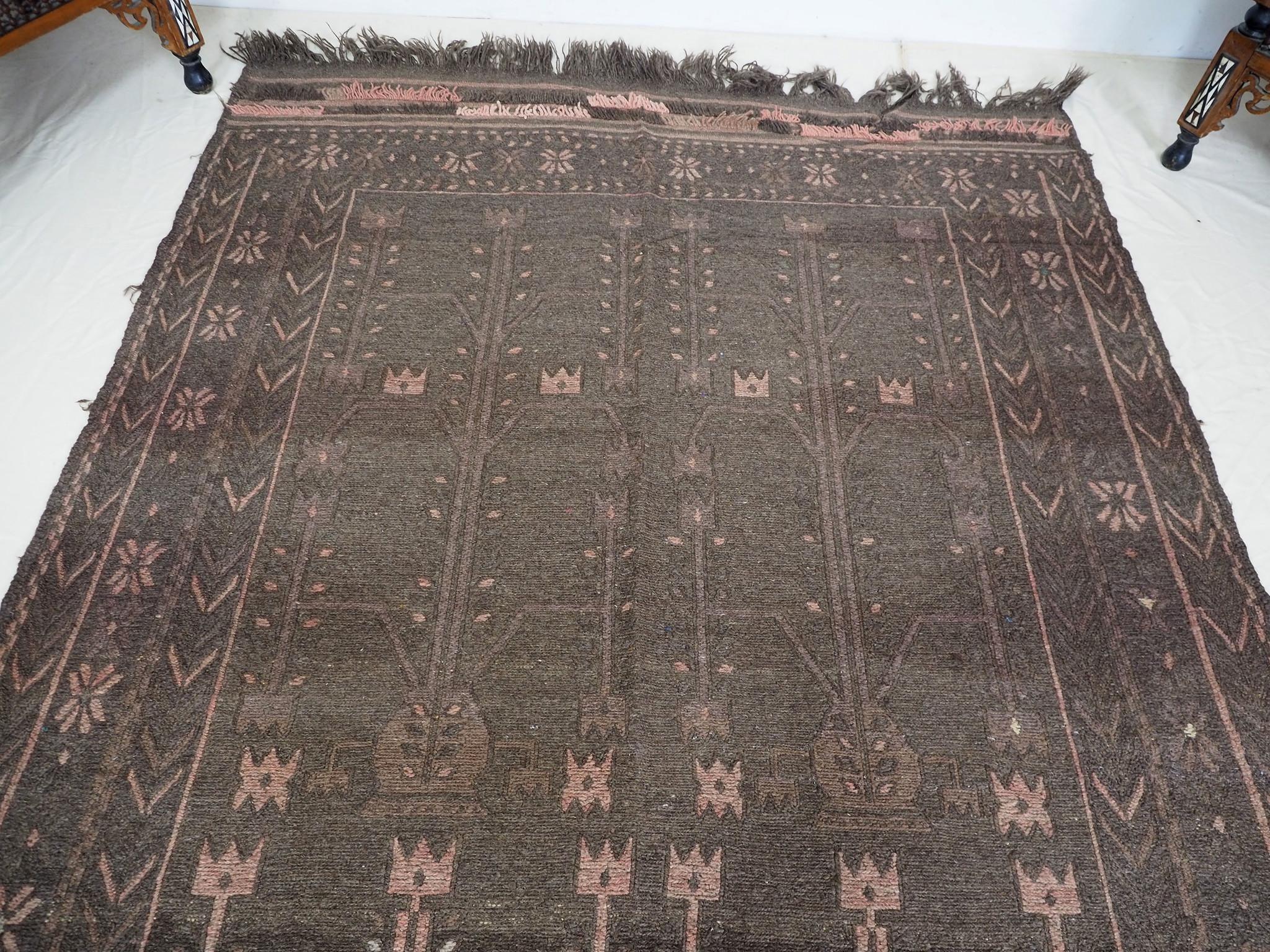 "255x155 cm (100,3"" x 61"" inch)  sumakh kelim Taimani Balouch Süd-Afghanistan Nr-TM-18"