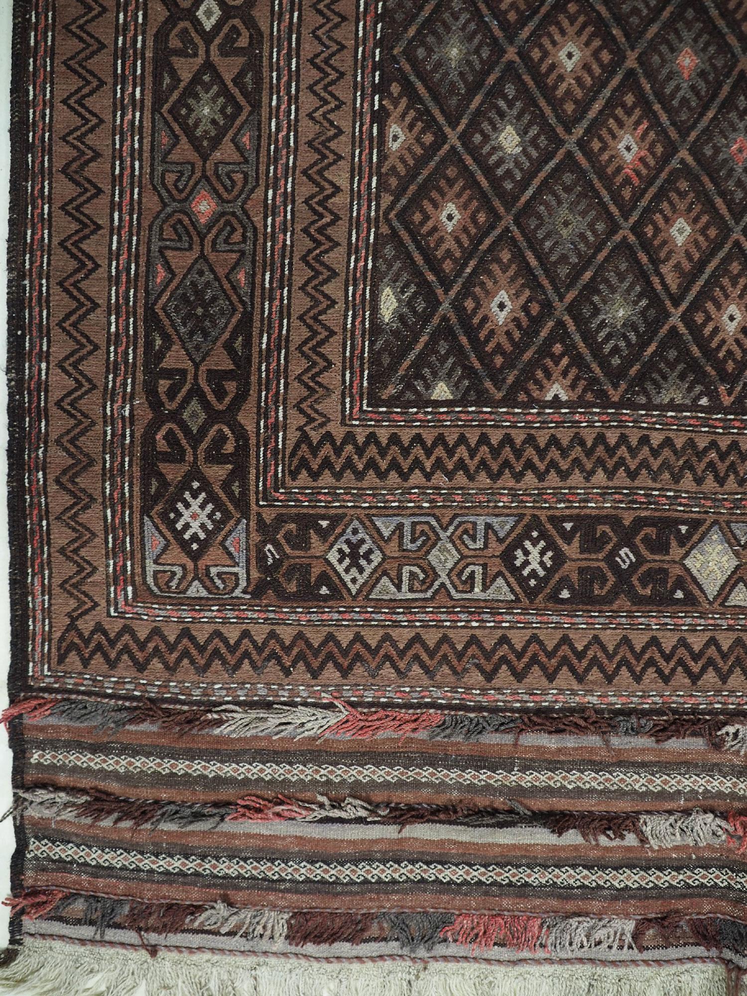 "280x180 cm (110,2"" x 70,8"" inch) sumakh kelim Taimani Balouch Süd-Afghanistan Nr-TM-20"