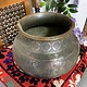 Antique Large islamic 18th to 19th century Tinned Copper Bowl No:19/B دیگ