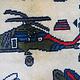 Afghan Kriegteppich Handgeknüpf Teppich Afghanistan panzer kampfjet gewehr USA Army Nato ISAF war rug Nr:19/ 14