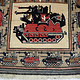 Afghan Kriegteppich Handgeknüpf Teppich Afghanistan panzer kampfjet gewehr USA Army Nato ISAF war rug Nr:19/ 30