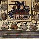 Afghan Kriegteppich Handgeknüpf Teppich Afghanistan panzer kampfjet gewehr USA Army Nato ISAF war rug Nr:19/31