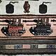 Afghan Kriegteppich Handgeknüpf Teppich Afghanistan panzer kampfjet gewehr USA Army Nato ISAF war rug Nr:19/32