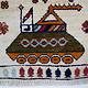 Afghan Kriegteppich Handgeknüpf Teppich Afghanistan panzer kampfjet gewehr USA Army Nato ISAF war rug Nr:19/ 33