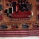Afghan Kriegteppich Handgeknüpf Teppich Afghanistan panzer kampfjet gewehr USA Army Nato ISAF war rug Nr:19/ 38