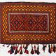 116x70 cm antik orient Afghan belochi Teppich nomaden sitzkissen bodenkissen Bohemian cushion 1001-nacht Inkl. Füllung Nr.19/  294
