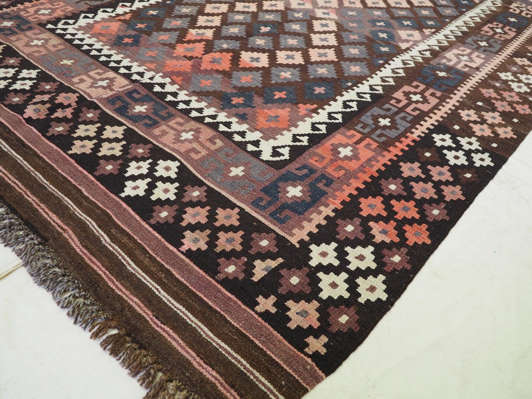 216x137 cm orient handgewebte Teppich Afghan Uzbek Nomaden Planzenfarbe kelim Nord Afghanistan No:271