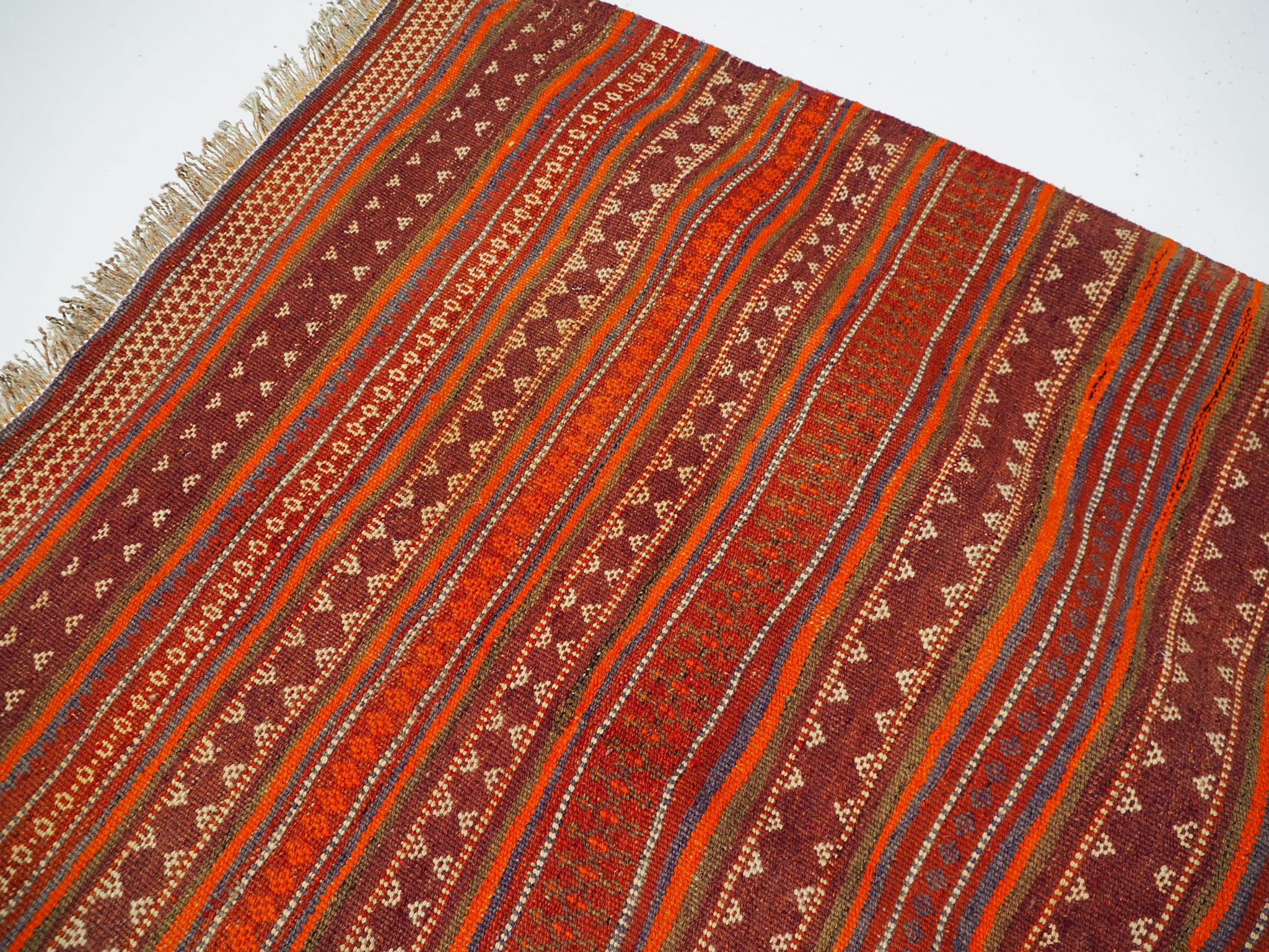 260x115 cm Antik orient handgewebte Teppich Nomaden Baluch sumakh kelim afghan Beloch kilim Nr-PK387