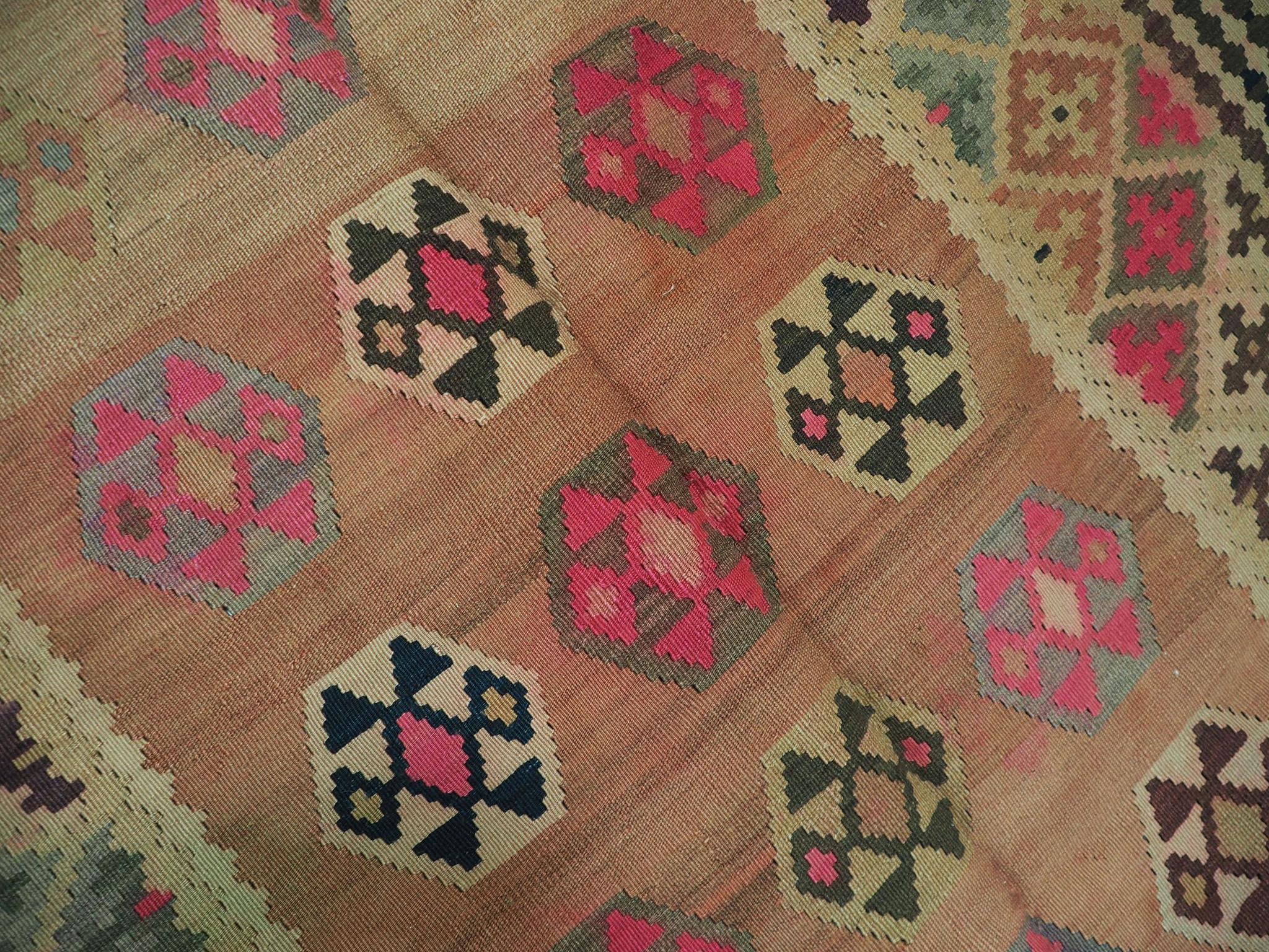 286x150 cm antike handgewebte orient kazak Teppich Nomaden kaukasische kelim No:440