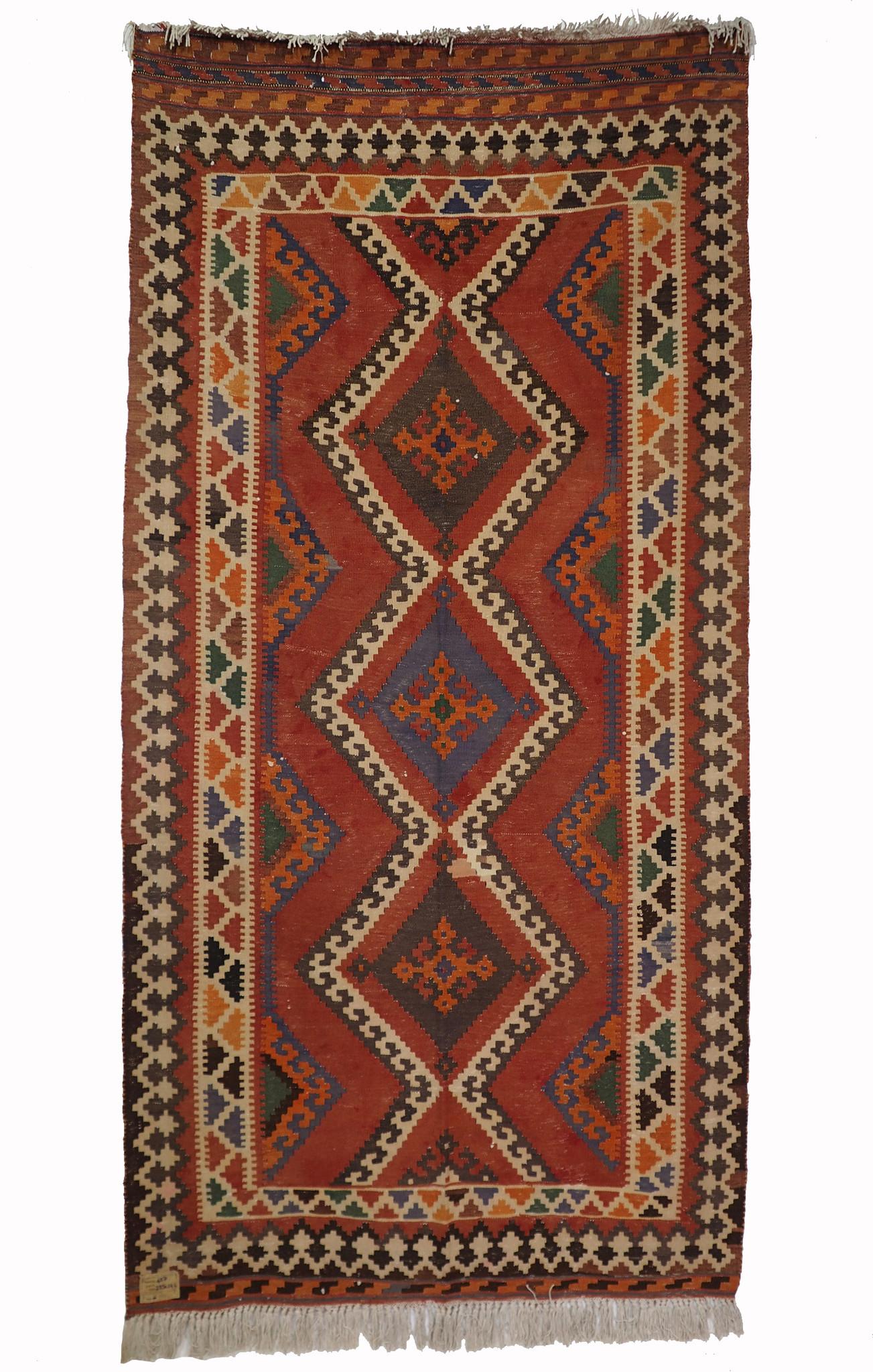 285x144 cm antike handgewebte orient kazak Teppich Nomaden kaukasische kelim No:457