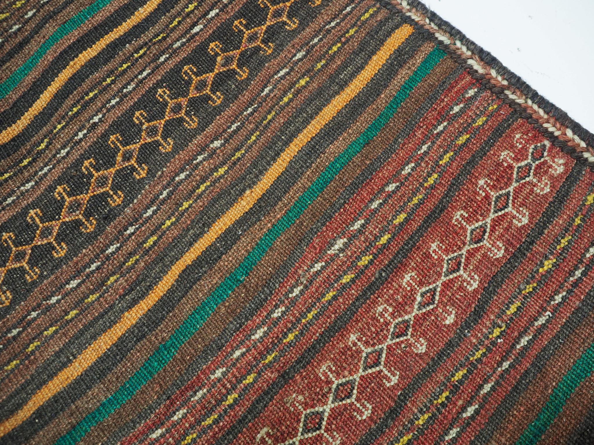 320x145 cm antike handgewebte orient kazak Teppich Nomaden kaukasische kelim No:1390