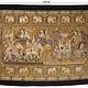 230x147 cm orient Asien Bild Kalaga Teppich Wandbehang wandteppich Burma Elefant Hand gestickte KALAGA-Tapisserie-Wandbehang Thailand 19/A