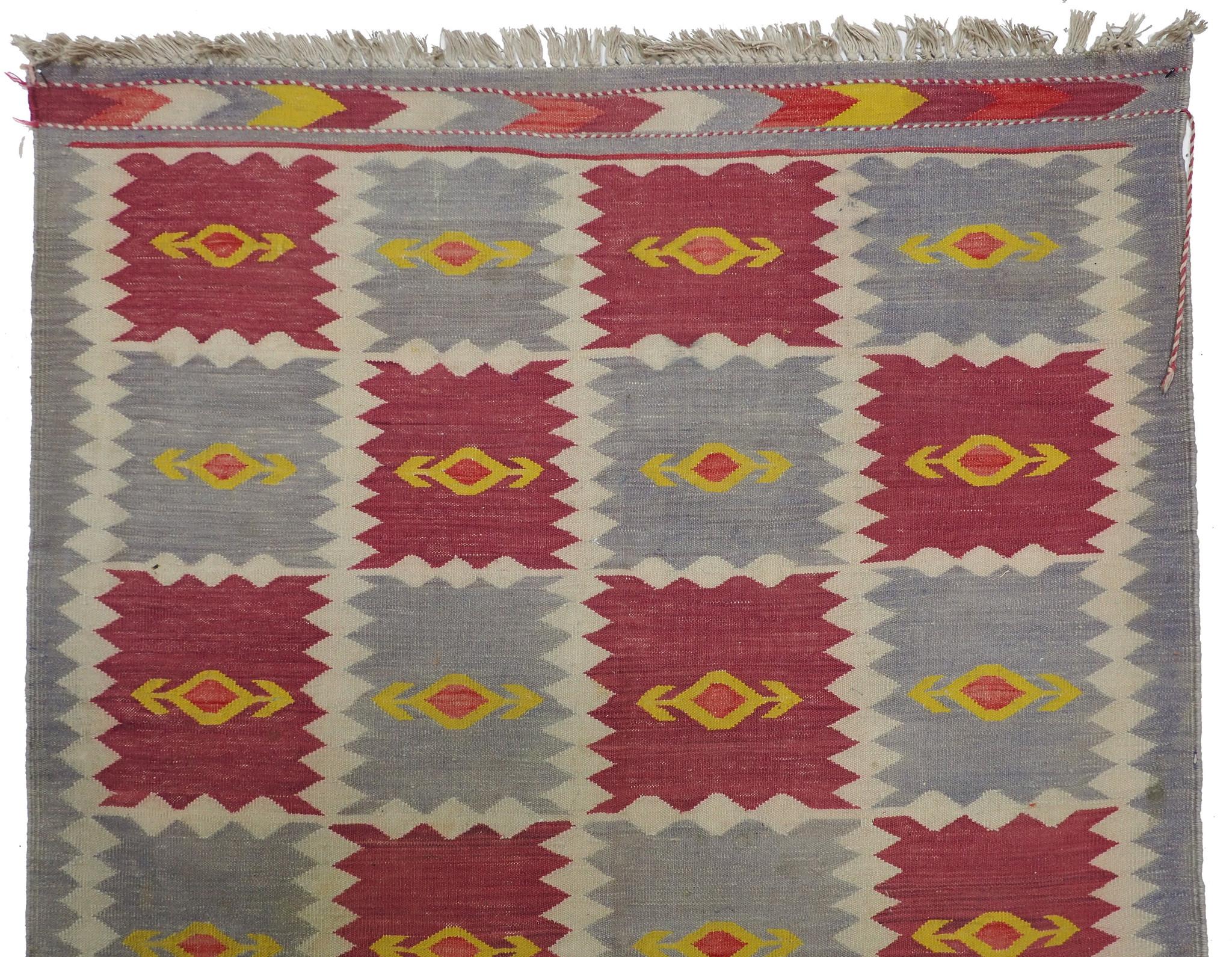196x110 cm handgewebte orient Teppich Nomaden afghan kelim No:260