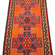275x153 cm antike handgewebte orient kazak Teppich Nomaden kaukasische kelim No:339