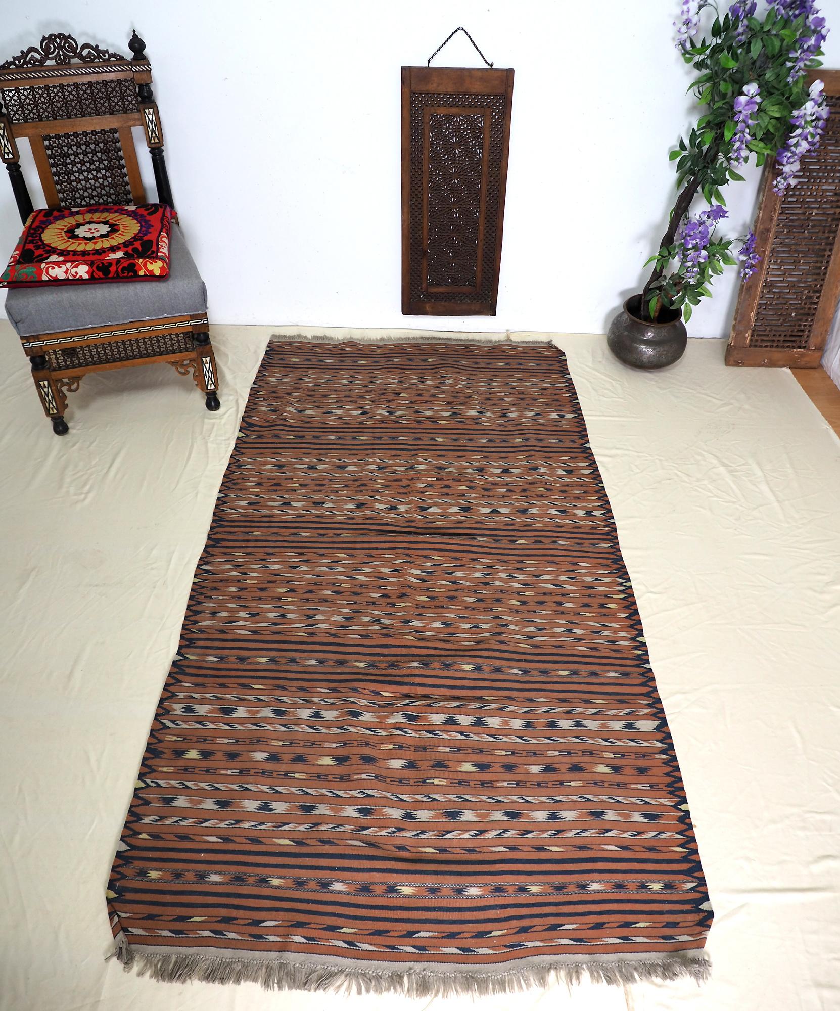 220x117 cm handgewebte orient Teppich Nomaden afghan kelim No:6