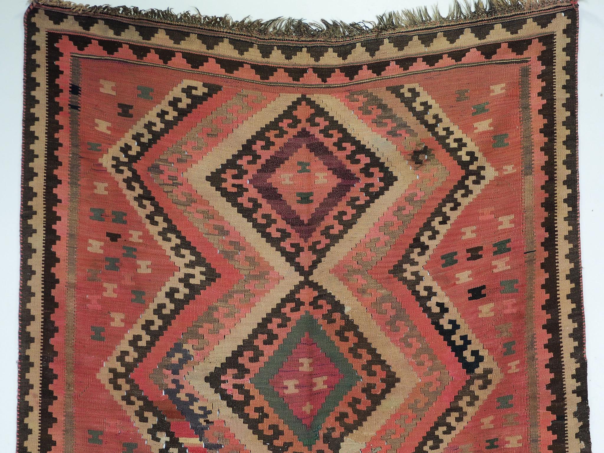 304x150 cm antike handgewebte orient kazak Teppich Nomaden kaukasische kelim No:360