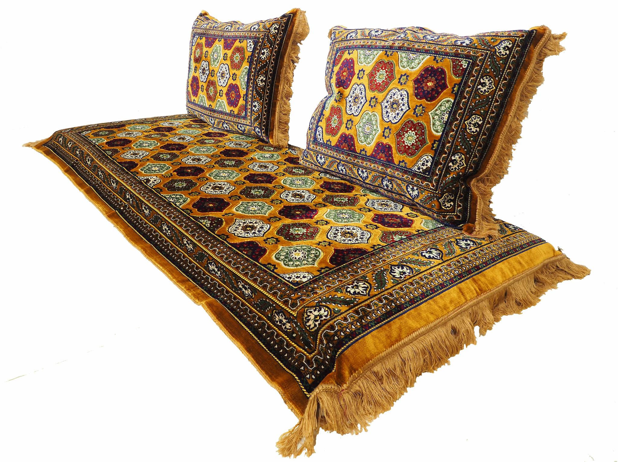 190x75 orient Sitzkissen Matratze Sitzecke Afghan toshak seating mattress (Gold) توشک