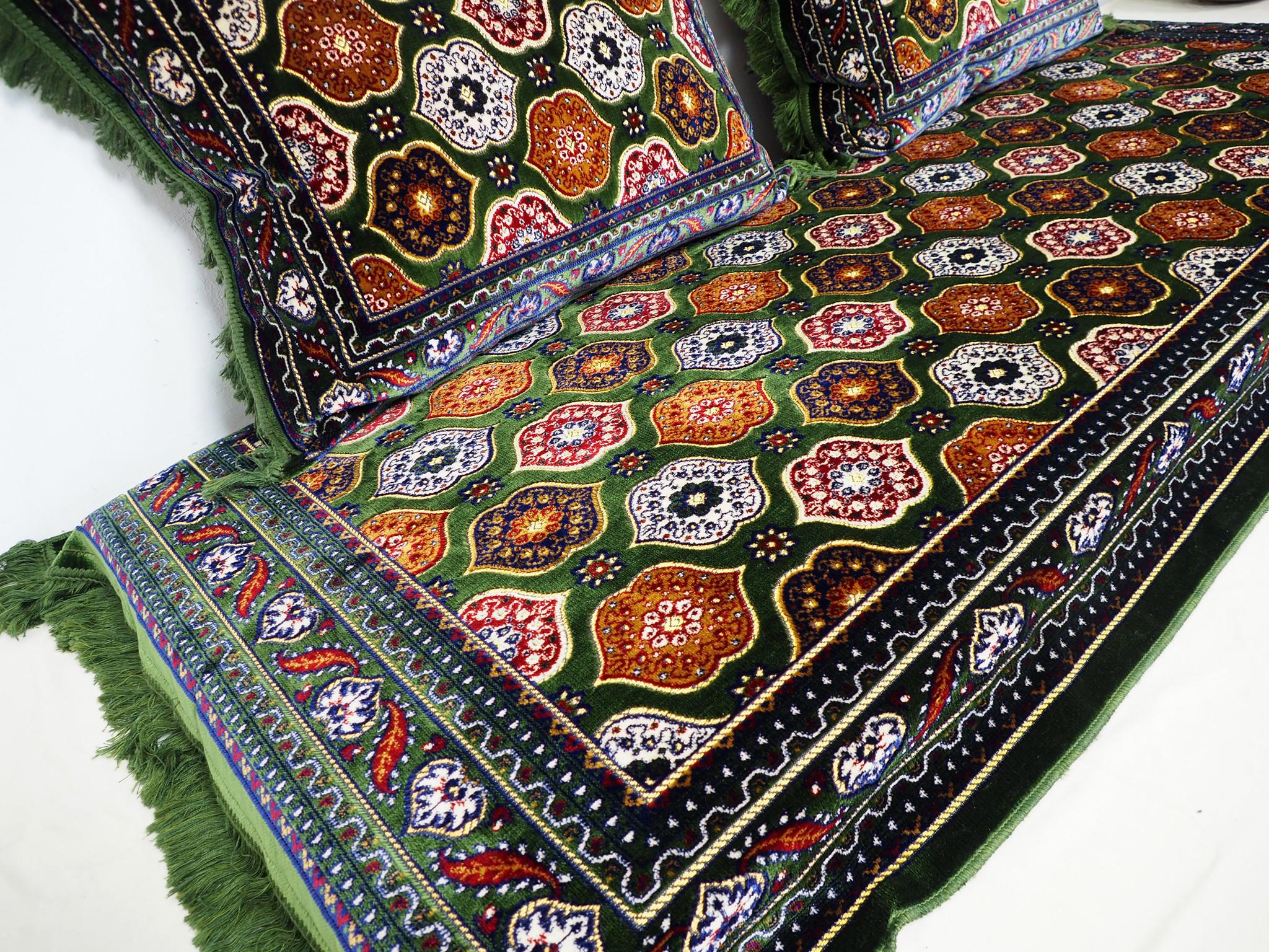 190x75 orient Sitzkissen Matratze Sitzecke Afghan toshak seating mattress (Grün) توشک   - Copy