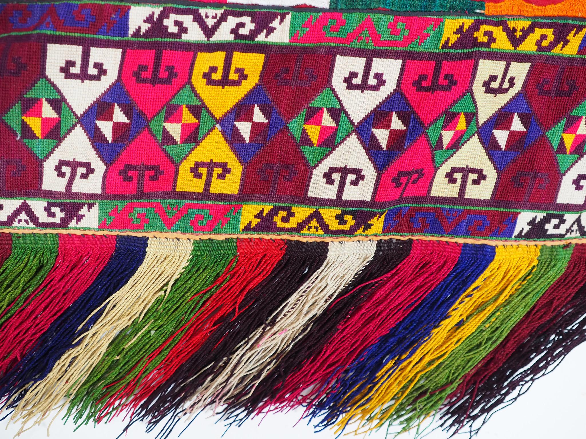 antik orient Usbek Nomaden Suzani Jurten Zierband saye-gosha aus Afghanistan Nr:23