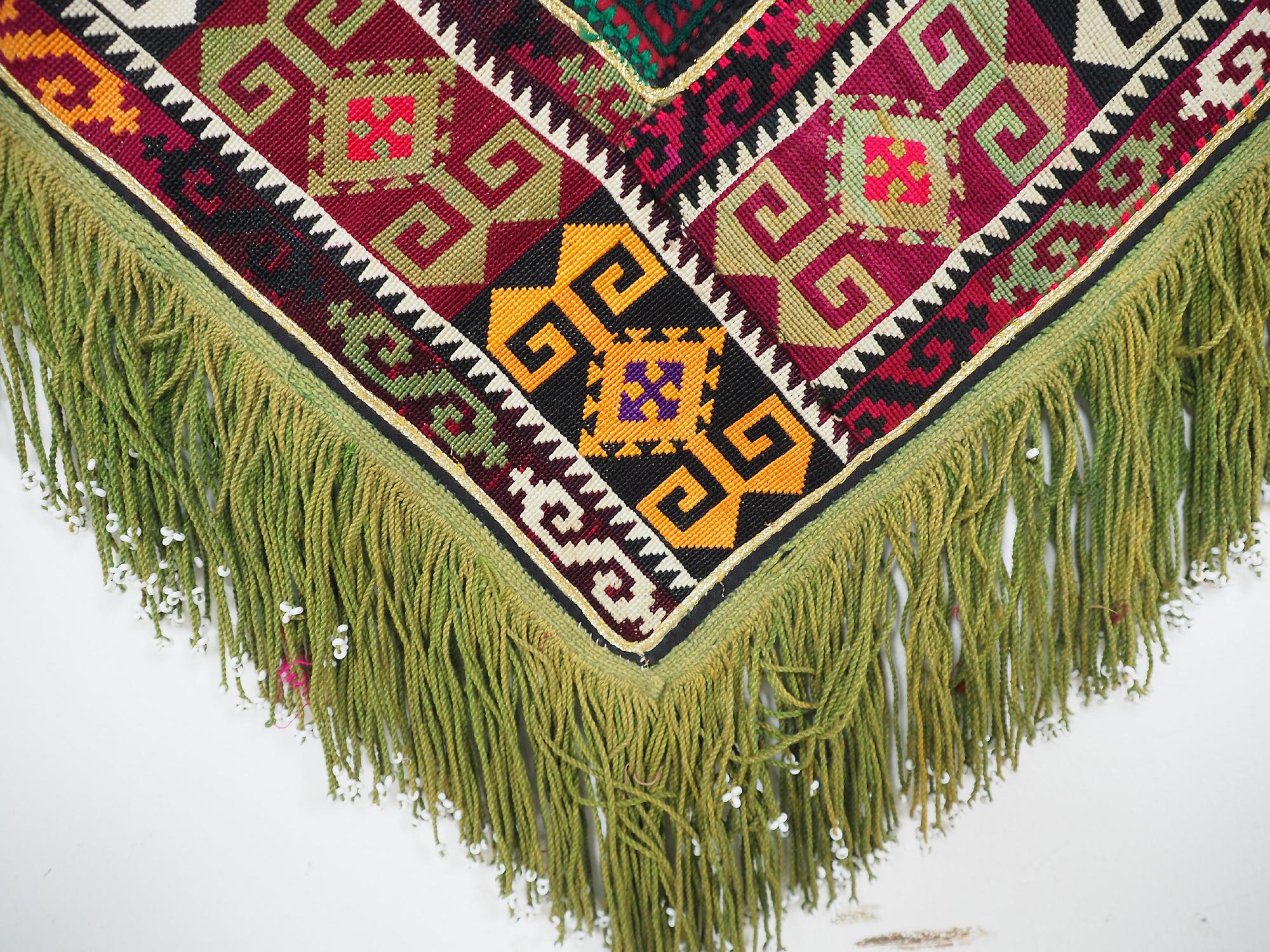 antik orient Usbek Nomaden Suzani Jurten Zierband saye-gosha aus Afghanistan Nr:1