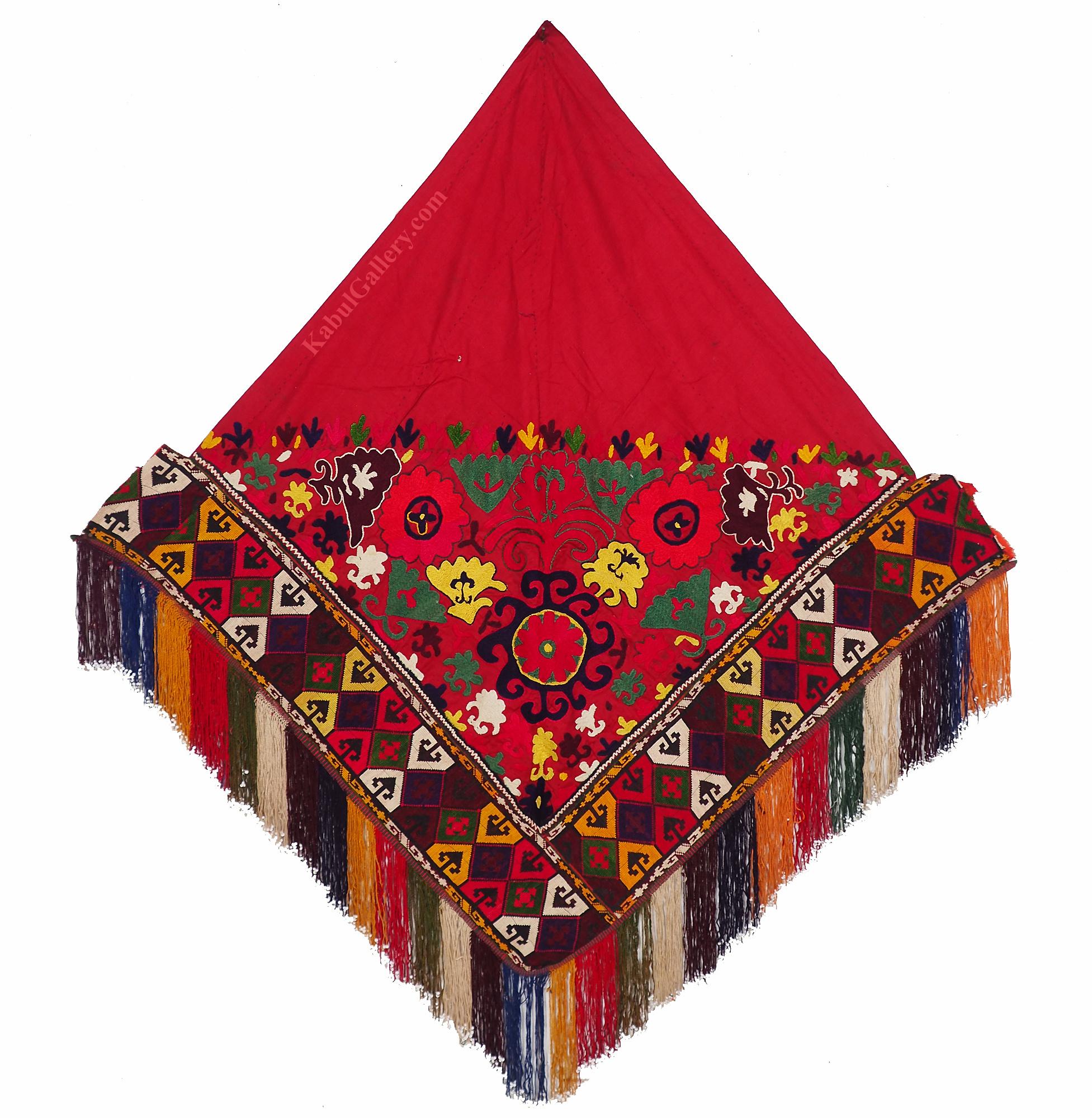 antik orient Usbek Nomaden Suzani Jurten Zierband saye-gosha aus Afghanistan Nr:116