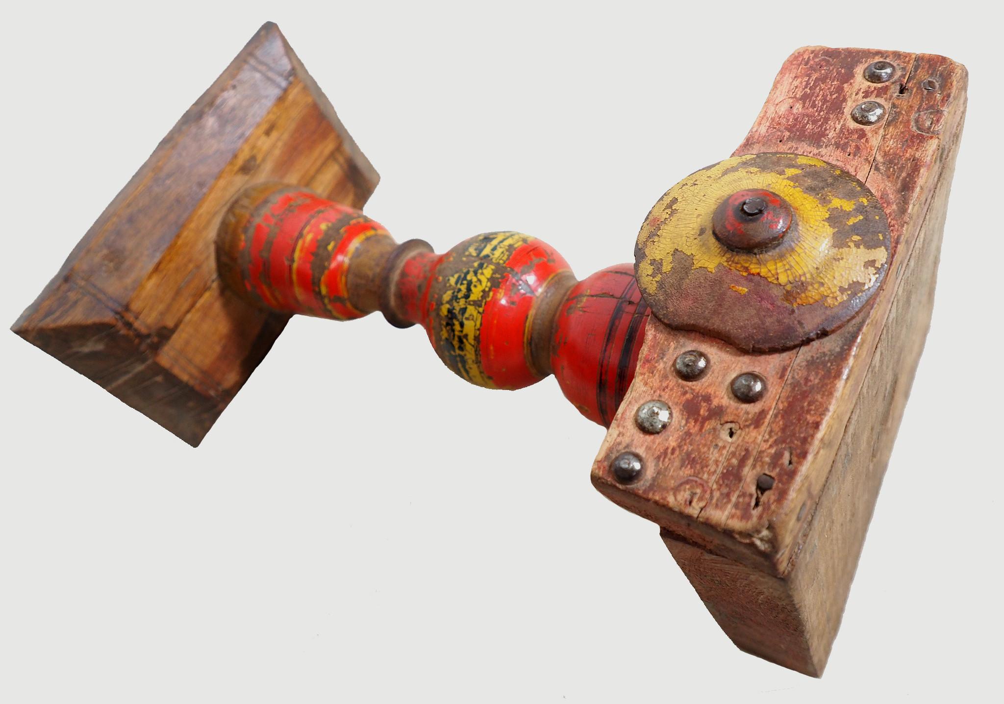 Antique Lacquerware Massiv Holz lampenständer  Nr: C