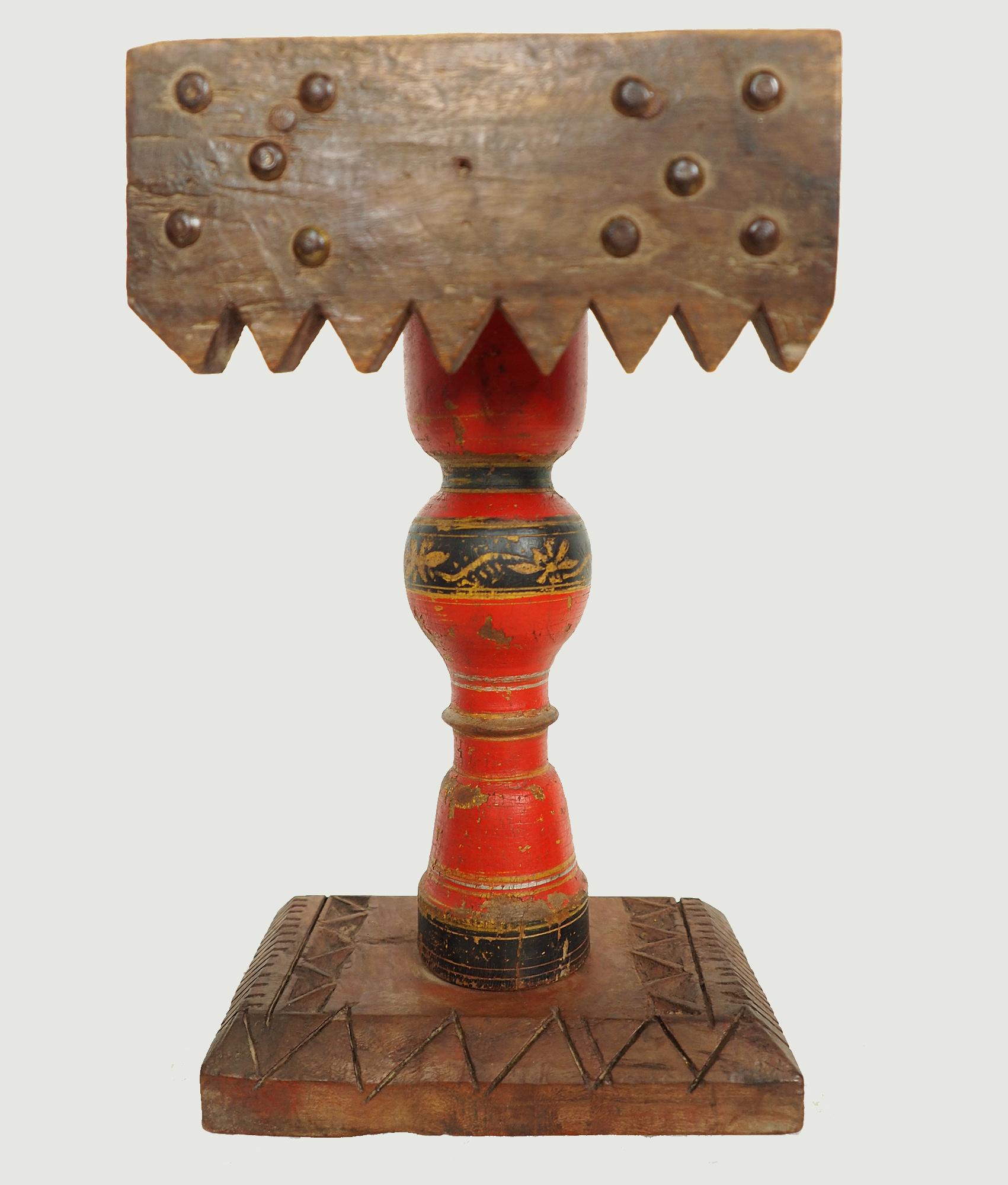 Antique Lacquerware Massiv Holz lampenständer  Nr: D