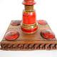 Antique Lacquerware Massiv Holz lampenständer  Nr: E