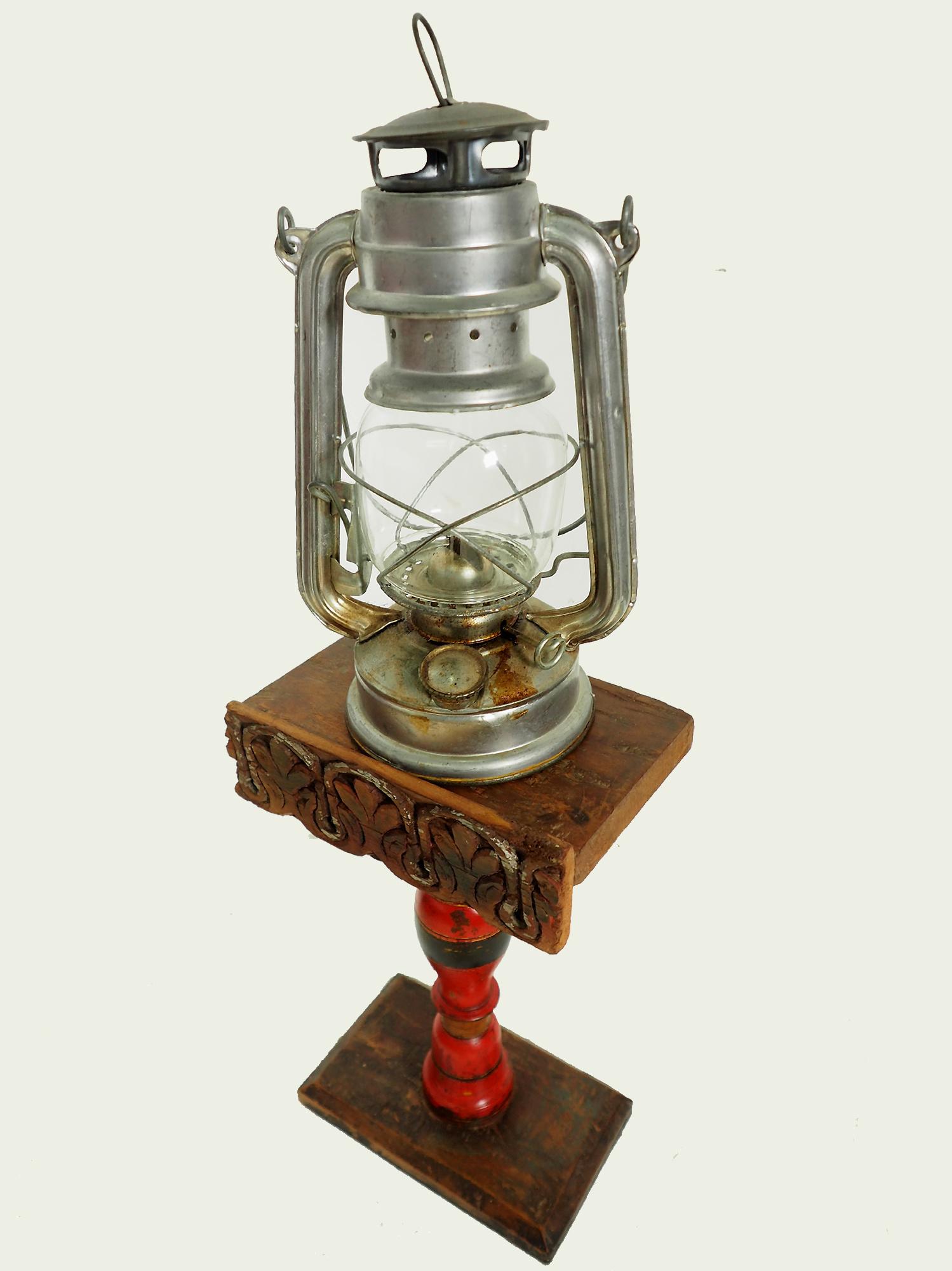 Antique Lacquerware Massiv Holz lampenständer  Nr: F