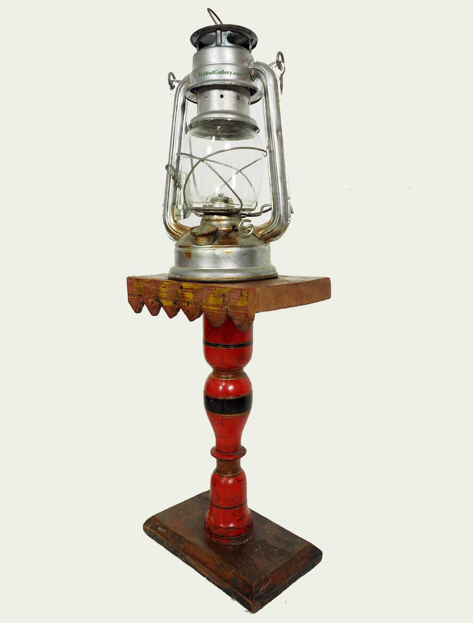 Antique Lacquerware Massiv Holz lampenständer  Nr: G