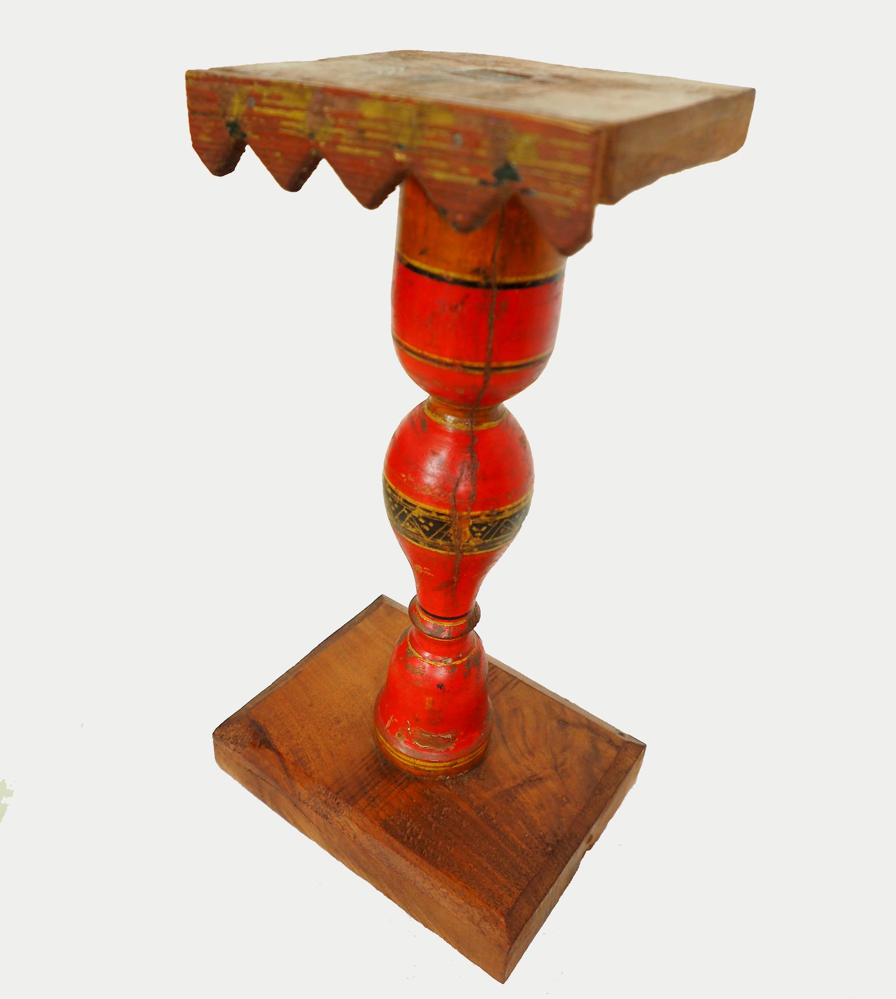 Antique Lacquerware Massiv Holz lampenständer  Nr: H